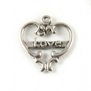 Charm School UK > Sterling Silver Charms > Love And Romance > Love Heart